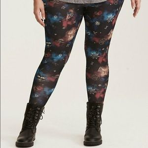 Torrid Harry Potter galaxy leggings sz 2 NWT